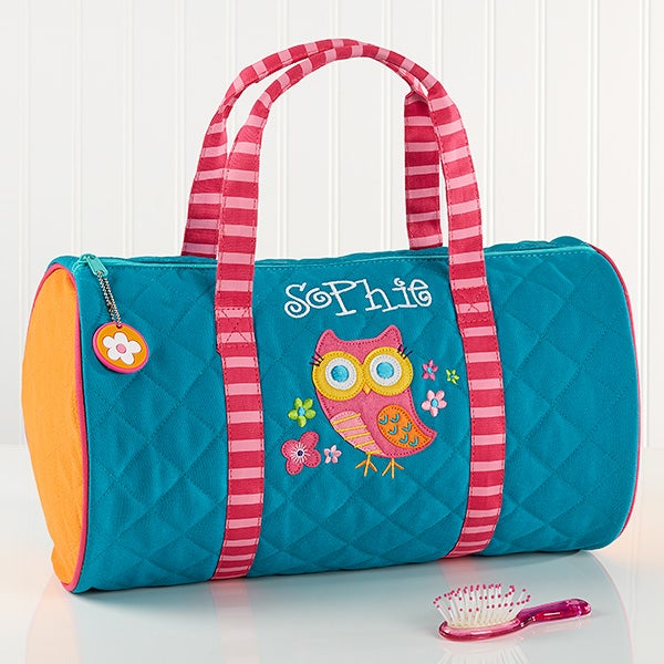 Personalized Kids Duffel Bags Lovable Owl 14551