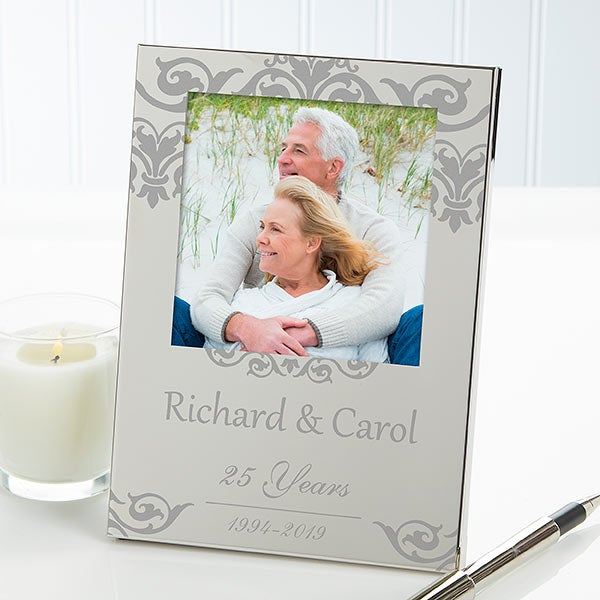 Anniversary Memories Personalized Engraved Picture Frame