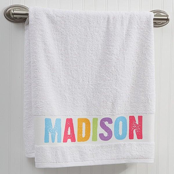 Personalized Kids Bath Towels - All Mine - 14573