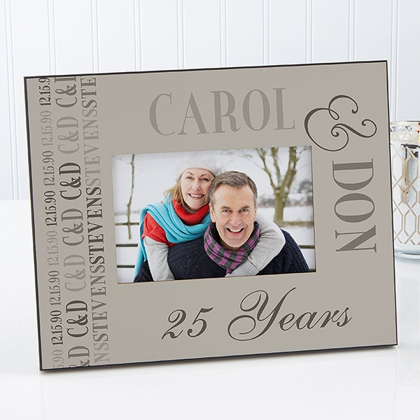 Personalized Picture Frames - Anniversary Memories - 14575