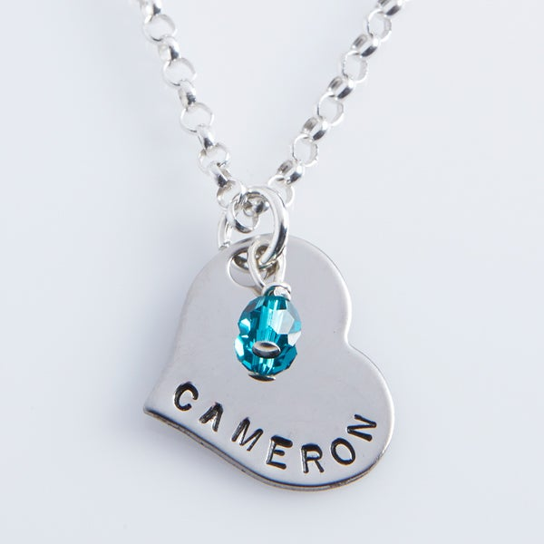 Personalized Mother Daughter Necklaces Daughter Heart Pendant