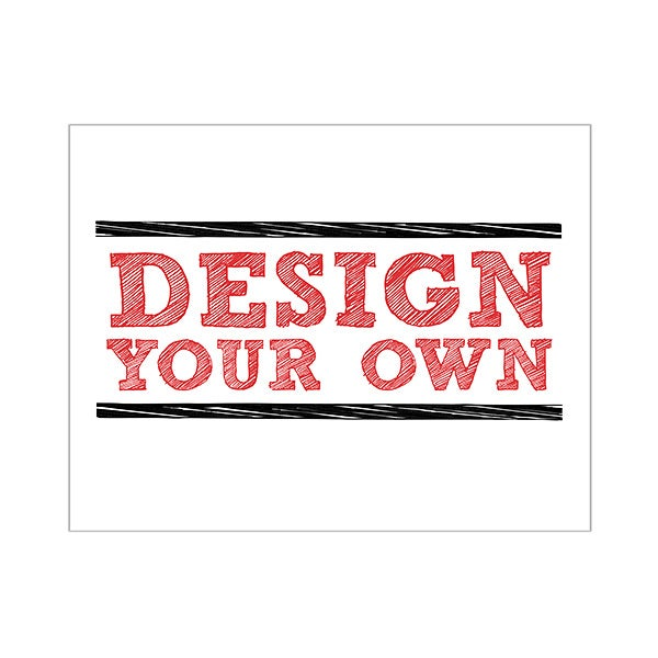 Design Your Own Stationery Flat Card Horizontal