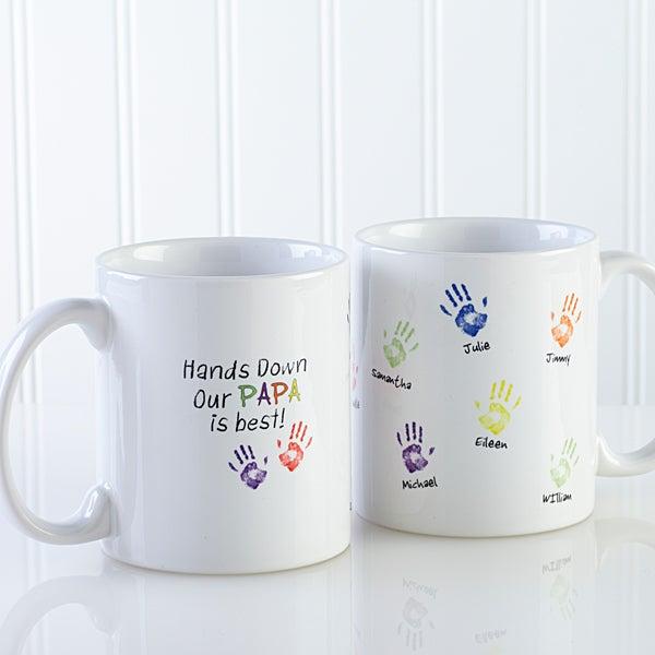 Coffee Mug Kids Handprints 11oz