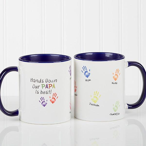 Personalized Coffee Mugs - Kids Handprints - 14622