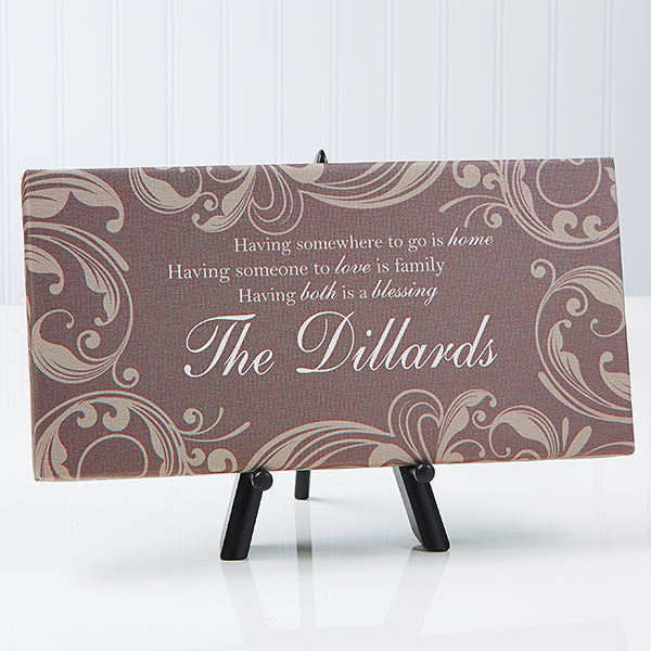 Personalized Canvas Prints - Family Blessings - 14671