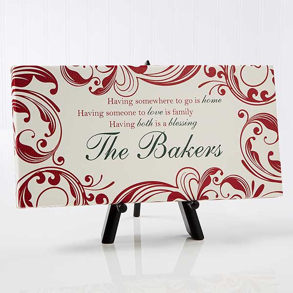 Christmas Blessings Personalized Canvas Art Print - 14672