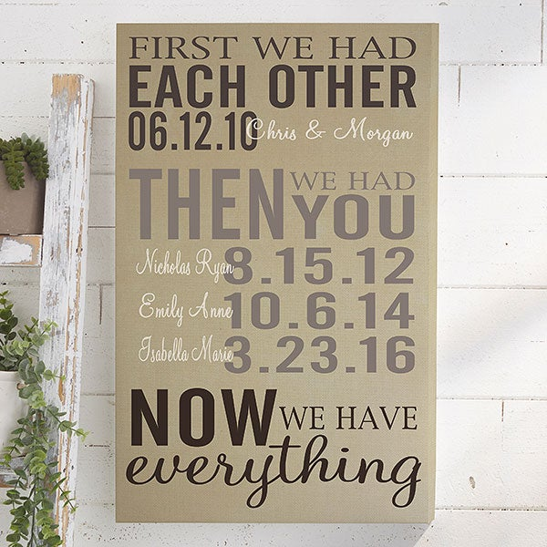 First We Had Each Other Personalized Canvas Prints - 14681