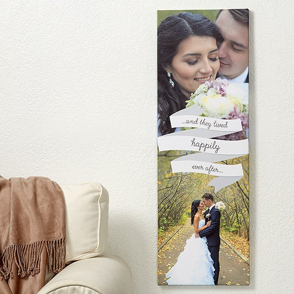 Personalized Wedding Photo Canvas - Forever And Always - 14685
