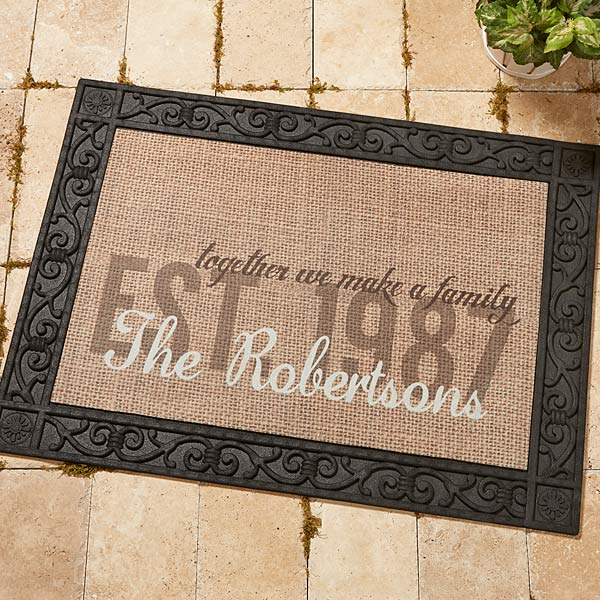 14705 Together We Make A Family Personalized Doormat