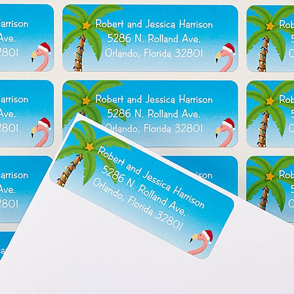 Personalized Holiday Return Address Labels - Warmest Wishes - 14762