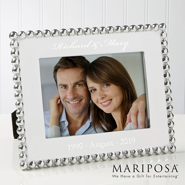 Personalized Anniversary Picture Frames - Mariposa String Of Pearls - 14789