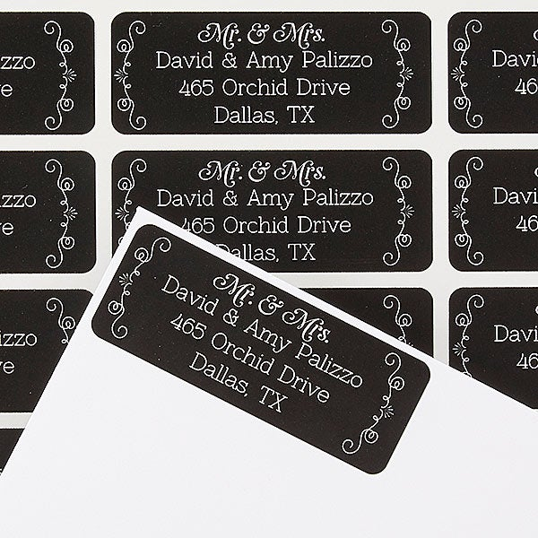 Personalized Return Address Labels - Mr and Mrs - Be Married - 14803
