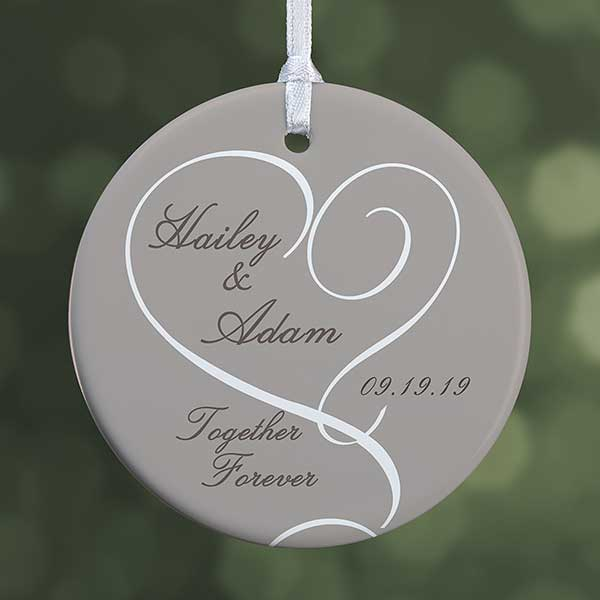 Personalized Engagement Photo Christmas Ornaments 1 Sided