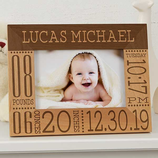 7b1b5cafc70 Personalized Birth Information Baby Picture Frames - Baby Love - 4x6