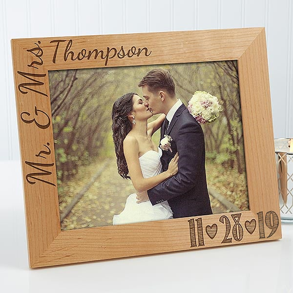 Personalized Wedding Photo Wood Frame Our Date 14856