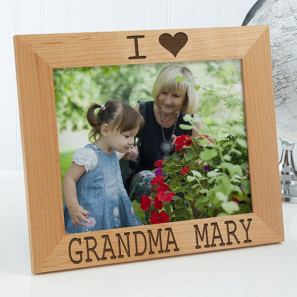 Personalized We Love Him Wood 8x10 Picture Frame Gifts For