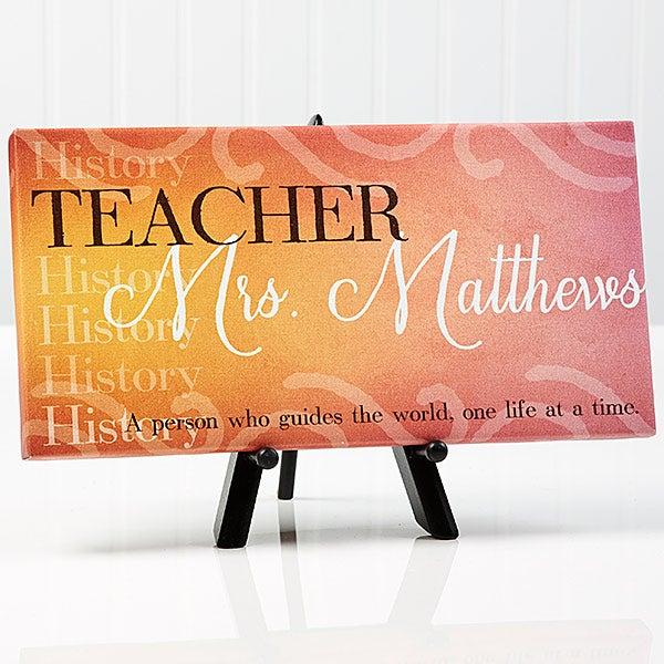 Personalized Teacher Canvas Print - Inspiring Teacher - 14863
