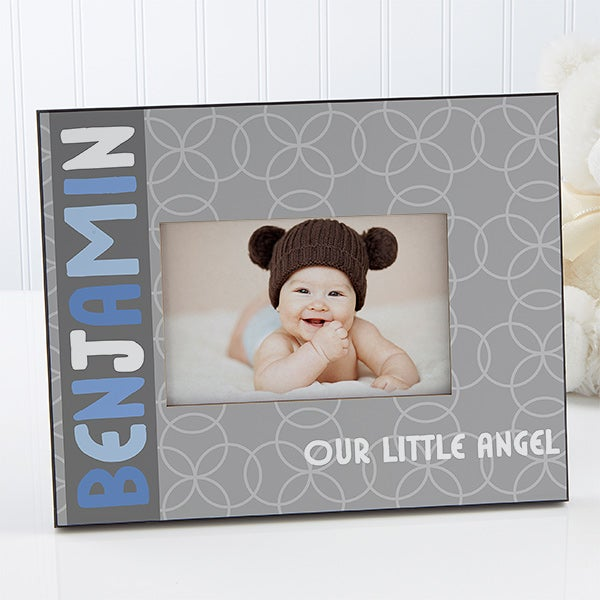Personalized Baby Boy Picture Frame - Trendy Baby Boy - 14866