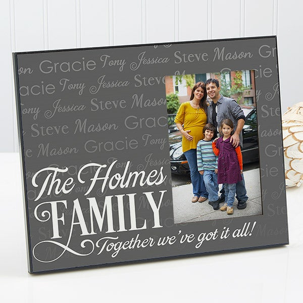 Personalized Family Picture Frame - Family is Love - 14867