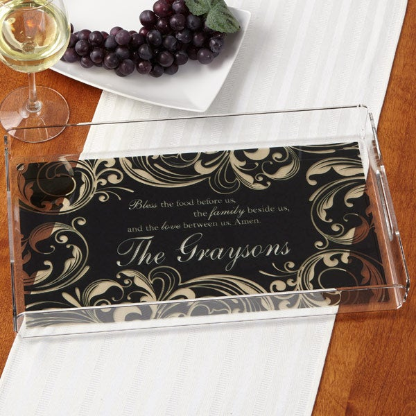 Personalized Serving Tray - Family Blessing - 14919