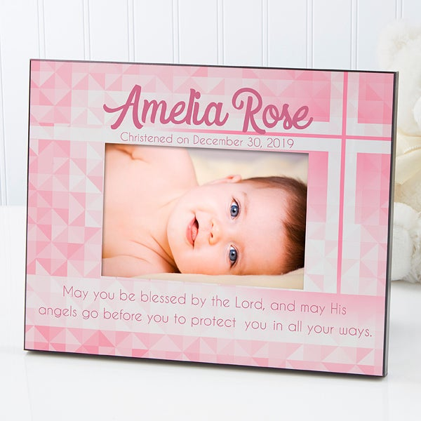 Personalized Christening Photo Frame - May You Be Blessed - 14931