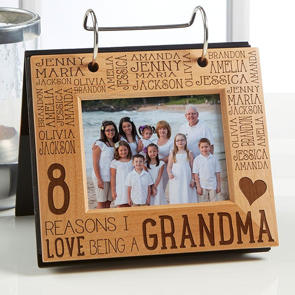 Personalized Photo Flip Picture Album - Reasons Why - For Her - 14943