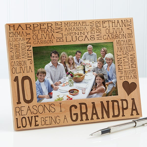 Personalized Wood Picture Frame For Him - Reasons Why - 14946