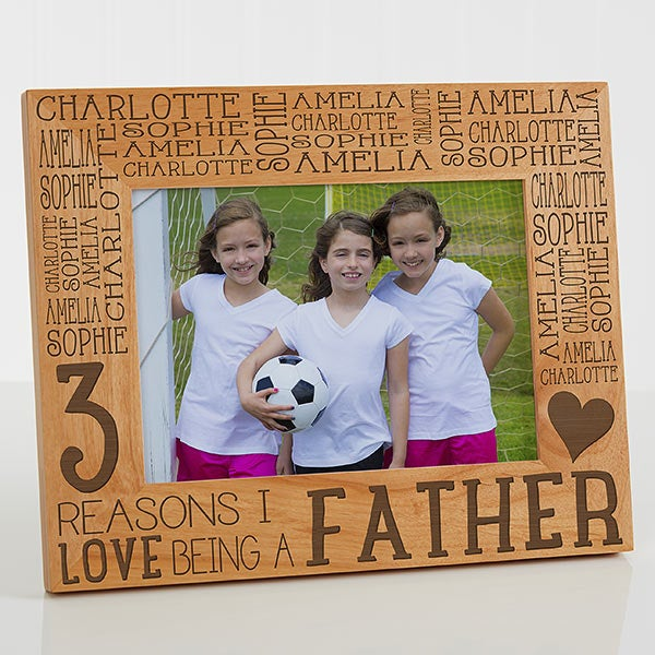 Custom Engraved Wood Photo Frame For Him Reasons Why 5x7