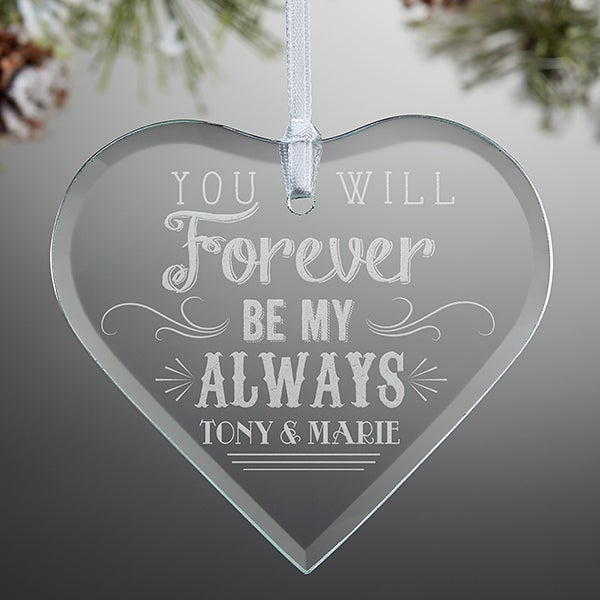 Love Quotes Personalized Heart Ornament