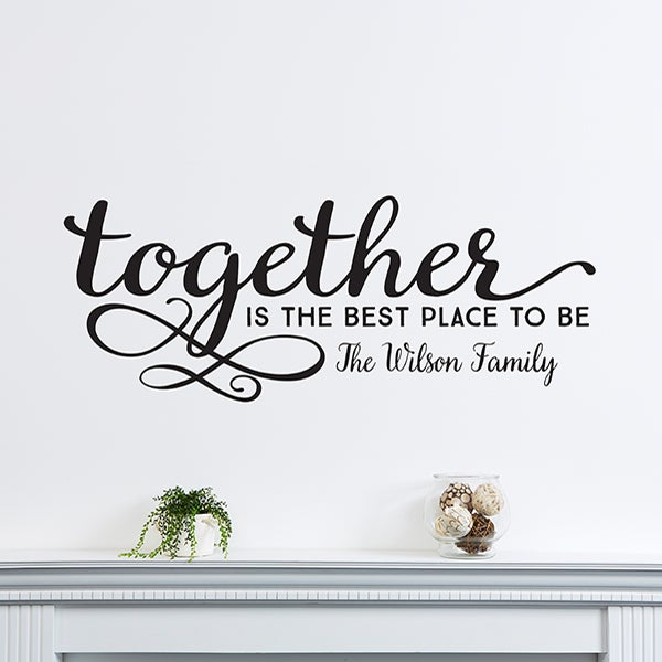 14979 Together Personalized Vinyl Wall Art