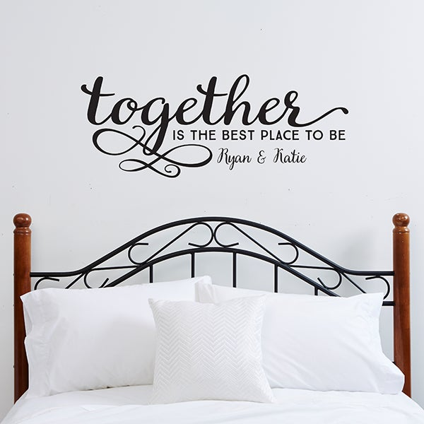 Personalized Family Vinyl Wall Art Together Is The Best Place To Be 14979