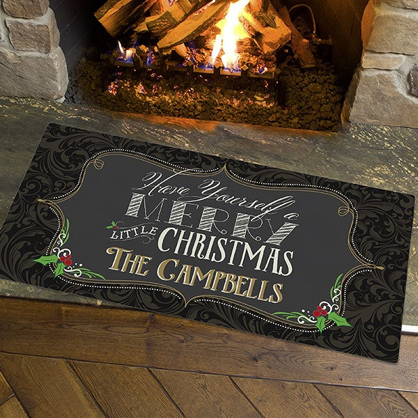 Merry Little Christmas Doormat