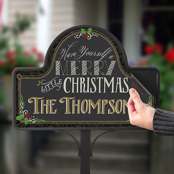 Personalized Garden Sign - Merry Little Christmas - 15059
