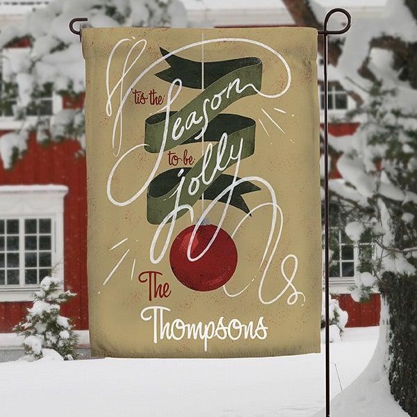 Personalized Christmas Garden Flag - 'Tis The Season To be Jolly - 15061