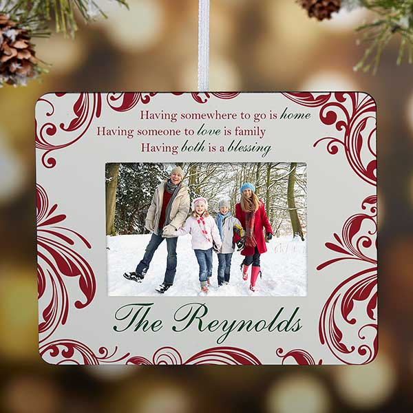 Personalized Christmas Ornament - Christmas Blessings Frame - 15068
