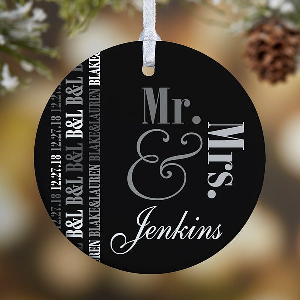Personalized Wedding Christmas Ornament - We Said I Do - 15077