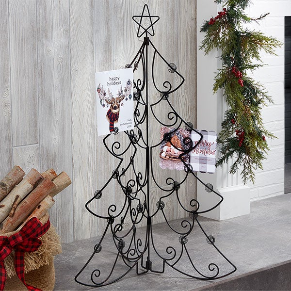 Tabletop Christmas Card Display Holder - Christmas Tree - 15143
