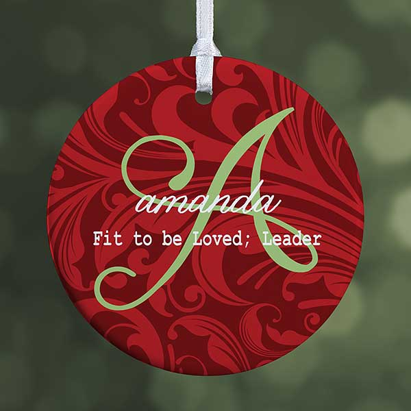 Personalized Christmas Ornament.Personalized Christmas Ornament Name Meaning 1 Sided