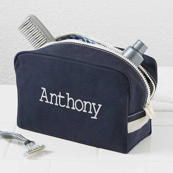 Personalized Men s Travel Toiletry Bag - Classic Canvas - 15172 b551698e188a6