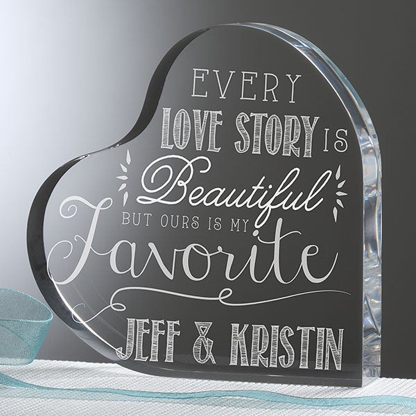 Personalized Romantic Heart Keepsake - Love Quotes - 15190