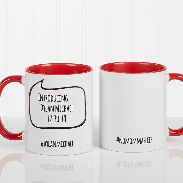 Personalized Social Media Coffee Mug - #Hashtag Bubble - 15239