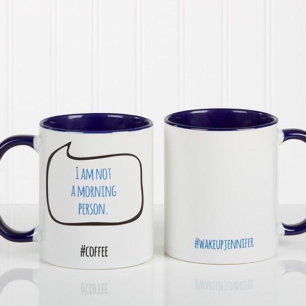 Personalized Social Media Coffee Mug - #Hashtag Bubble - 15239