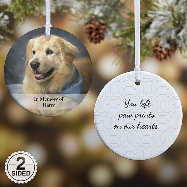 Personalized Pet Christmas Ornament - 2-Sided Pet Photo - 15249 - Personalized Pet Christmas Ornament - 2-Sided Pet Photo Memories
