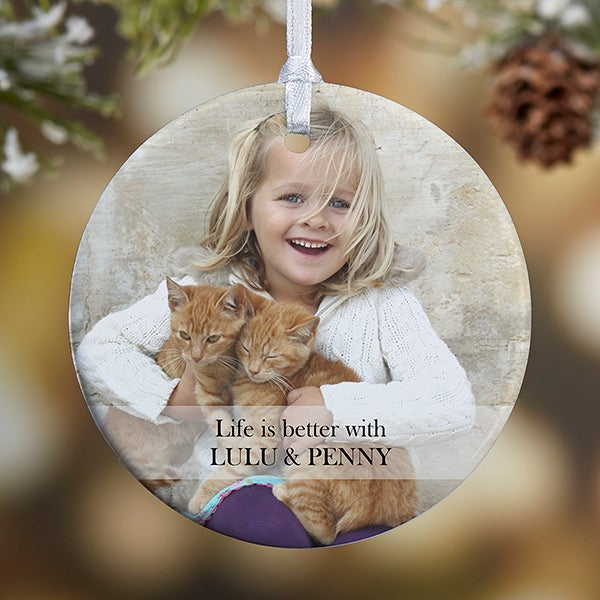Personalized Pet Christmas Ornament - 2-Sided Pet Photo - 15249