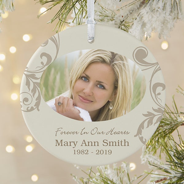 In Loving Memory Personalized Memorial Ornament Christmas Clearance