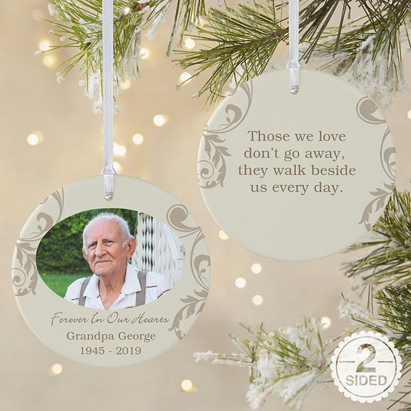 In Loving Memory Photo Memorial Ornament Christmas Clearance
