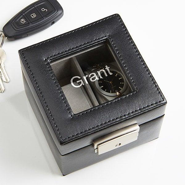 Monogram Leather Watch Box 2 Slot - 15257