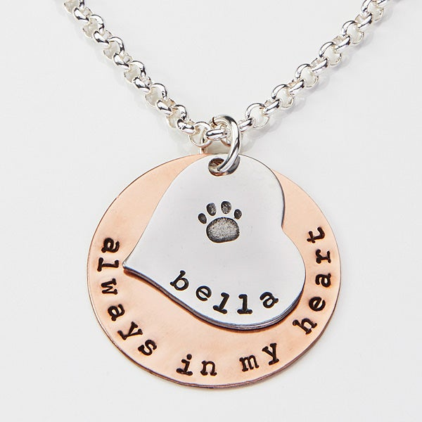 Personalized Pet Memorial Necklace - Always In My Heart - 15282D