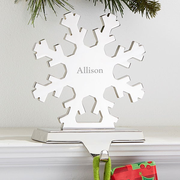 Personalized Stocking Holders: Snowflake & Christmas Tree - 15287