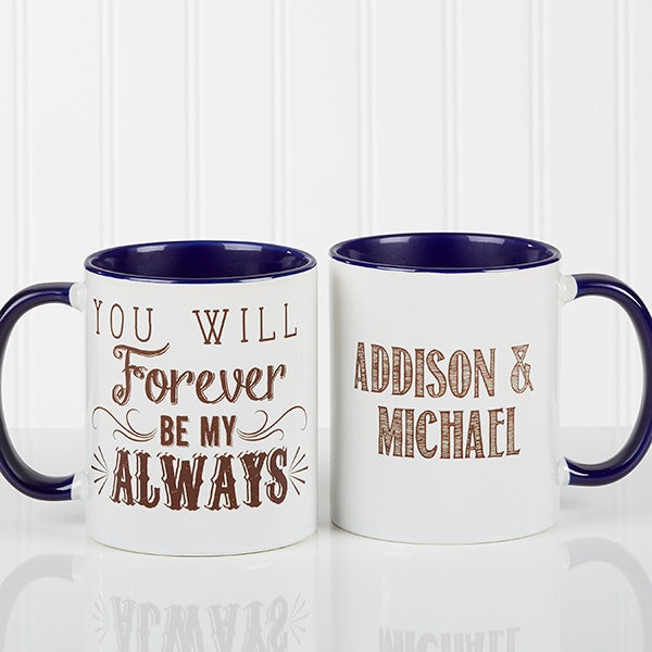 r tic personalized coffee mugs love quotes blue